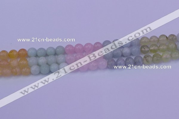 CMQ362 15.5 inches 8mm round rainbow quartz beads wholesale