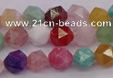 CMQ371 15.5 inches 6mm faceted nuggets mixed gemstone beads