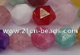 CMQ374 15.5 inches 12mm faceted nuggets mixed gemstone beads