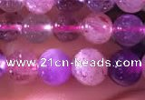 CMQ433 15.5 inches 7mm round mixed quartz beads wholesale