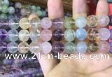CMQ453 15.5 inches 12mm round rainbow quartz beads wholesale