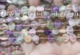 CMQ500 15.5 inches 10mm flat round colorfull quartz beads wholesale