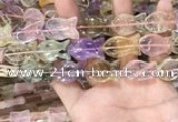 CMQ509 15.5 inches 15*25mm fish-shaped colorfull quartz beads