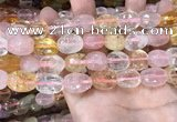 CMQ516 10*12mm - 13*18mm faceted nuggets colorfull quartz beads