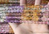 CMQ543 15.5 inches 8mm faceted round colorfull quartz beads