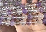 CMQ558 15.5 inches 14mm faceted round colorfull quartz beads