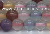 CMQ570 15.5 inches 6mm round mixed quartz beads wholesale