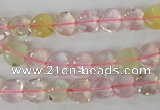 CMQ79 15.5 inches 8*8mm heart multicolor quartz beads