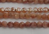CMS1010 15.5 inches 4mm faceted round AA grade moonstone beads