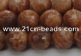 CMS1015 15.5 inches 12mm faceted round AA grade moonstone beads