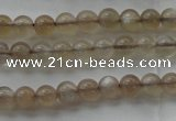 CMS1063 15.5 inches 4mm round grey moonstone beads wholesale