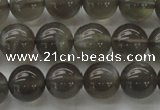 CMS1072 15.5 inches 8mm round grey moonstone beads wholesale