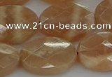 CMS1108 15.5 inches 15*20mm faceted oval moonstone gemstone beads