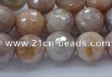 CMS1303 15.5 inches 10mm faceted round AB-color moonstone beads