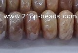 CMS1326 15.5 inches 8*16mm faceted rondelle AB-color moonstone beads