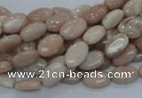 CMS14 15.5 inches 8*12mm oval moonstone gemstone beads wholesale