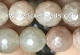 CMS1453 15.5 inches 12mm faceted round AB-color moonstone beads
