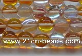CMS1532 15.5 inches 8mm round synthetic moonstone beads wholesale