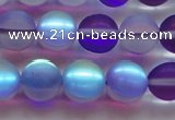 CMS1579 15.5 inches 12mm round matte synthetic moonstone beads
