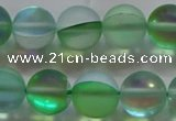 CMS1608 15.5 inches 10mm round matte synthetic moonstone beads