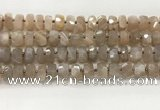 CMS1664 15.5 inches 6*10mm - 8*11mm faceted tyre moonstone beads