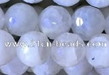 CMS1856 15.5 inches 8mm faceted round white moonstone beads wholesale
