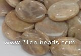 CMS19 15.5 inches 18*25mm oval moonstone gemstone beads wholesale