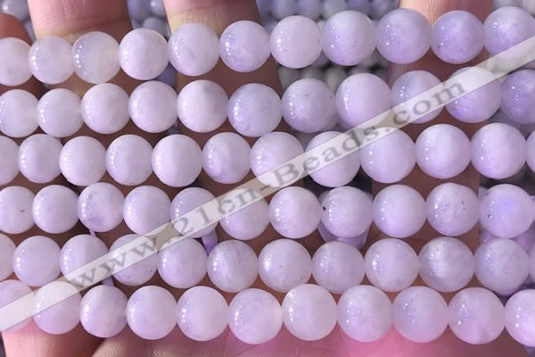 CMS1917 15.5 inches 10mm round white moonstone beads wholesale