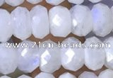 CMS1926 15.5 inches 5*8mm faceted rondelle white moonstone beads
