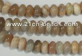 CMS518 15.5 inches 4*8mm rondelle moonstone beads wholesale