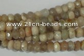 CMS563 15.5 inches 4*6mm faceted rondelle moonstone beads wholesale