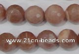 CMS767 15.5 inches 14mm faceted round natural moonstone beads
