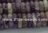 CNA1023 15.5 inches 4*12mm rondelle dogtooth amethyst beads