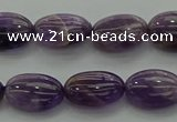 CNA1036 15.5 inches 8*12mm oval dogtooth amethyst beads wholesale