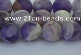 CNA1053 15.5 inches 10mm round matte dogtooth amethyst beads