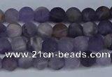 CNA1060 15.5 inches 4mm round matte dogtooth amethyst beads