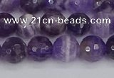 CNA1072 15.5 inches 8mm faceted round dogtooth amethyst beads