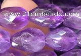 CNA1103 15.5 inches 7*10mm faceted teardrop amethyst gemstone beads