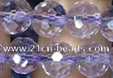 CNA1112 15.5 inches 8mm faceted round natural amethyst beads