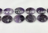 CNA1209 15.5 inches 30*40mm faceted oval amethyst gemstone beads