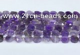 CNA1215 15.5 inches 10mm faceted square amethyst beads
