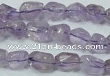 CNA201 15.5 inches 10*14mm faceted nugget natural amethyst beads