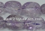 CNA204 15.5 inches 18*25mm nugget natural amethyst beads