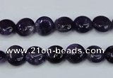 CNA267 15.5 inches 10mm flat round natural amethyst beads wholesale