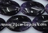 CNA296 15.5 inches 20*30mm oval A grade natural amethyst beads