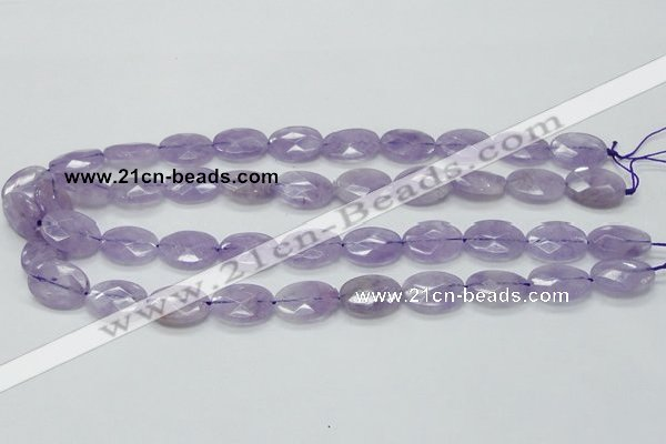 CNA330 15.5 inches 13*18mm faceted oval natural lavender amethyst beads