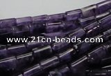 CNA34 15.5 inches 6*10mm column grade A natural amethyst beads