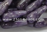 CNA41 15.5 inches 10*30mm teardrop grade AB natural amethyst beads