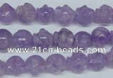 CNA433 15.5 inches 12*12mm skull shape natural lavender amethyst beads