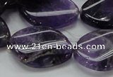 CNA44 15.5 inches 22*30mm twisted teardrop grade A natural amethyst beads